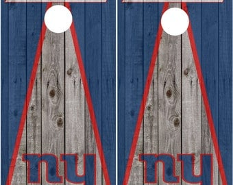 New York Giants Cornhole Decal Wraps Vinyl Decal Cornhole Wrap