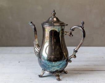 Vintage Silverplate Tea Pot-Food Photography Prop