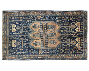 7.3' x 4.8' Shiraz Persian Rug,hand knotted oriental design antique rugs and carpets, Vintage Floor Rug, Oriental Area Rug,