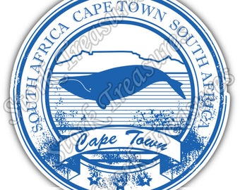 Cape Town South Africa Country Vintage Stamp Car Bumper Vinyl Sticker Decal