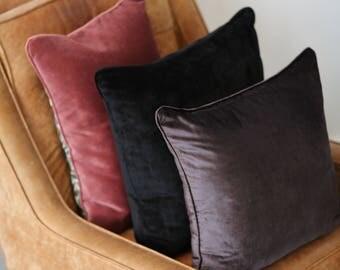 The Black Velvet Cushion