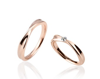 14k pink gold couples ring 커플링
