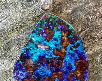 Boulder Opal pendant Australian