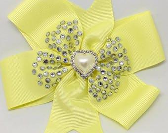 Love - Large:12.5cm Pinwheel Hair Bow Clip