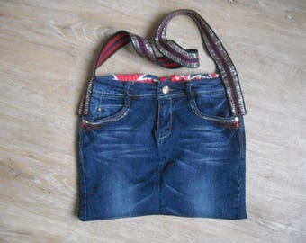 "bag fully lined Blue Jean ""Great Britain"""