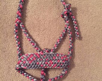 Mule Tape Horse Halter with wide Noseband