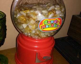 Brazilian tumbled citrine gumball machine