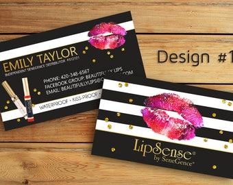 LipSense Business Cards - SeneGence International - LipSense - Distributor - Lipsense