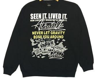 Airwalk Sweatshirt Spell out L Size Street wear Sportwear
