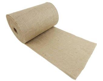 "14"" Wide 100 Yards 100% Natural Jute Upholstery Burlap Roll"