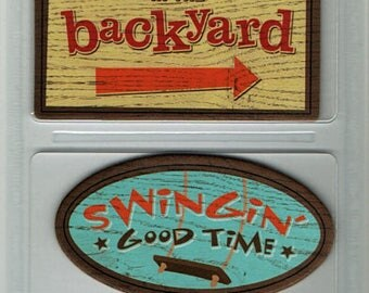 Backyard Fun Outdoor Chipboard Signs Karen Foster Scrapbook Embellishments Cardmaking Crafts
