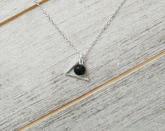 Triangle LAVA Diffuser Necklace, LAVA necklace, Diffuser Necklace, Minimalist jewelry, triangle necklace, aromatherapy jewelry