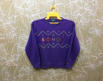 Vintage 90s Kenzo Golf sweatshirt jumper jacket big logo purple colour