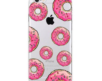 Donuts iPhone 6s case, iphone 6s case clear transparent case, soft bendable case
