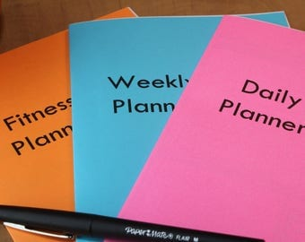 Multi Pack- fitness daily and weekly planner printables