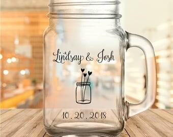 Custom Mason Jar Wedding Favor Mason Jars