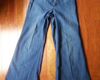 Bell Bottom Blue Jeans