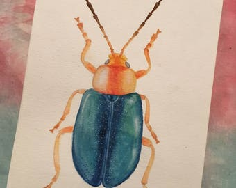 Jewel Beetle Watercolour