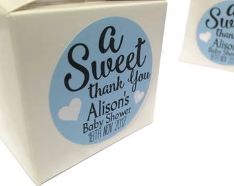 Baby shower stickers, baby shower favour stickers, A Sweet Thank You, personalised baby shower stickers, Sweet baby shower 153