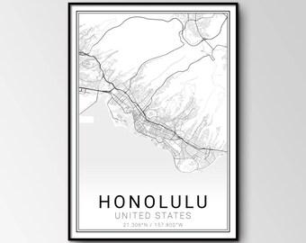 Honolulu city map