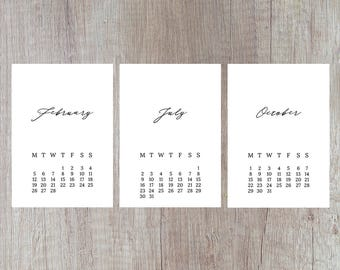 Downloadable calenda | Etsy