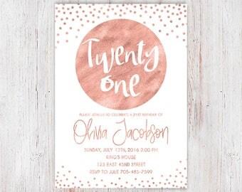 Foil Invitations Etsy - 21st birthday invitations gold coast