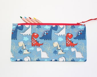 Dinosaur Pencil Case, Pencil pouch, Cute School Supplies, Dinosaur Gift, Gift Ideas, Gifts Under 20