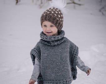 Toddler Poncho, Toddler Pullover, Toddler Clothing, Toddler Sweater, Girl's Poncho, Girl's Sweater, Girl's Pullover, Girl's Clothing