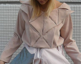 Smooth velvet handmade sweater pink