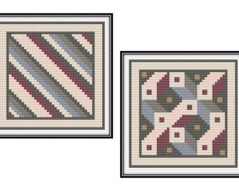 Antioch Mosaic Blocks 5 & 6 (PDF) Cross Stitch Pattern
