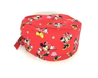 Cuffietta chirurgica - Surgical cap - Minnie on red
