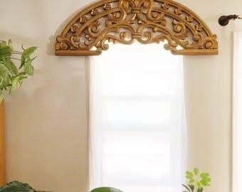 Large Gold Window / Wall Decor Ark Bohemian Home Decor