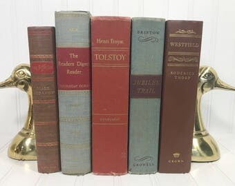 Red Vintage Book Set