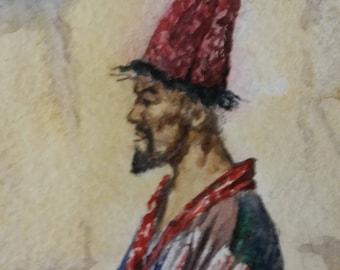 Dervish watercolor painting