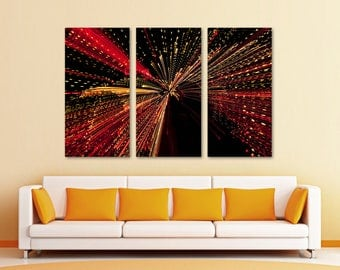 Abstract Firework Lights Wall Art Canvas Print