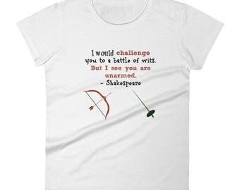 Women's Shakespearean Insult short sleeve t-shirt
