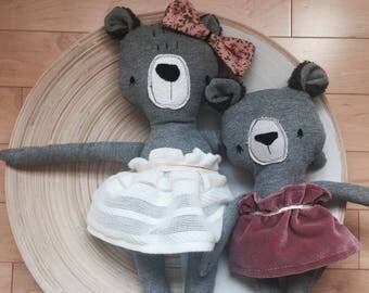Doll bear Teddy bear stuffed animal toy baby and child