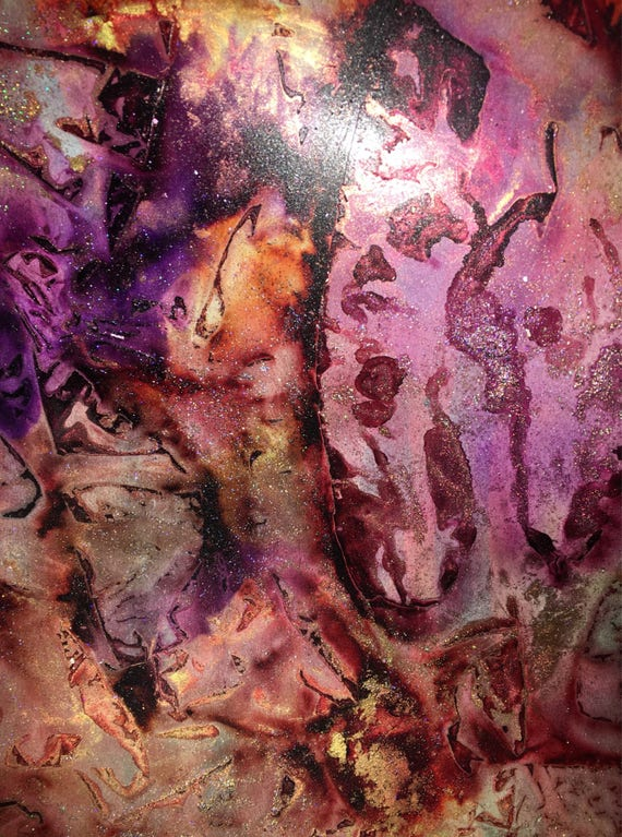 "Original Alcohol Ink (Mixed Media) Abstract Painting: ""Spite"" (11"" X 14"")"