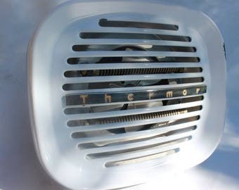 Vintage fan heater French Thermor 1950s metal heater industrial loft decor was 55 now 45 euros!