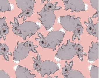 Bunny by daisyhsteele  -  fabric - Cotton/ Polyester/ Jersey/ Canvas/ Digital Printed