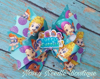 bubble gupppies hair bow bubble guppies hair clip bubble guppies birthday party bubble