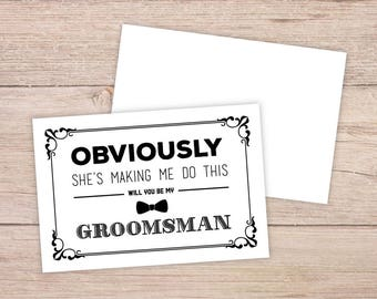 Will you be my groomsman etsy junglespirit Image collections