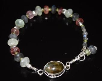 Labradorite, Prehnite, Lepidolite Quartz  Bracelet~ Artisan Bracelet ~ Healing Energy Bracelets~ Gift Ideas ~ Unisex