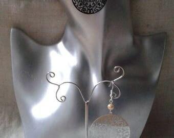 """Earrings """"ears""""Silver floral charm"""""""