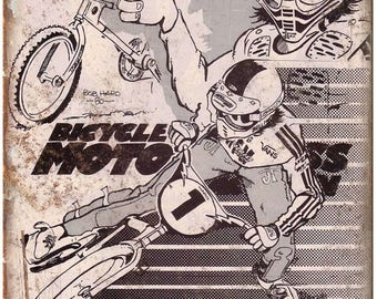 "10"" x 7"" Metal Sign BMX Action Magazine Bob Haro Vintage Look Reproduction B37"