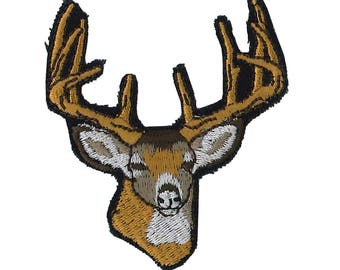 Patches Deer Head Patch 6 x 6.5 cm