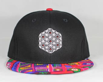 The Circle of Life Sacred Geometry Tribal Brim Snapback Hat