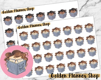Reading Character Planner Stickers - Sophie and Amanda