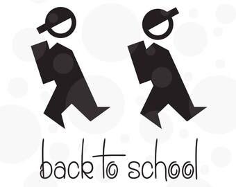 Back to school svg, School boy, svg, School, Student, Cut file, digital,