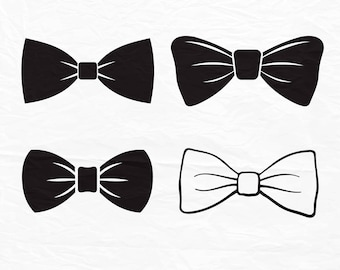 Bow Tie SVG Files for Cutting Bowtie Cricut Boy Designs - SVG Files for Silhouette - Instant Download